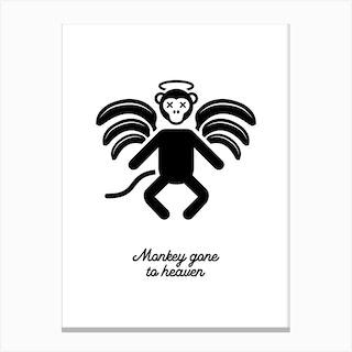 Monkey Gone to Heaven Canvas Print