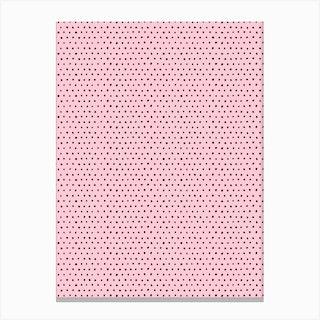 Artsy Dots Pink Canvas Print