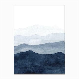 Mountains Ombre Canvas Print