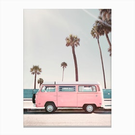 Pink Van Canvas Print