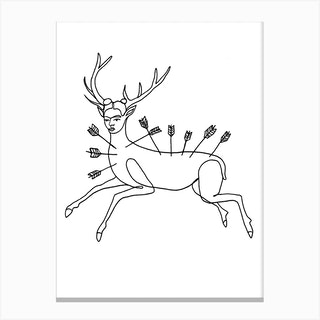 Frida Wounded Deer Canvas Print
