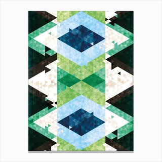 Bohemian Kilim Rhomb Canvas Print