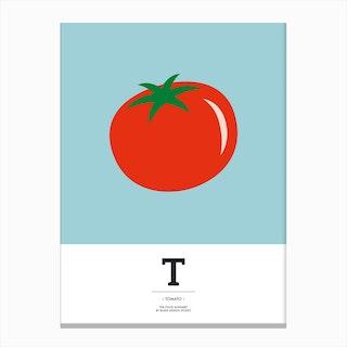 The Food Alphabet – T Canvas Print