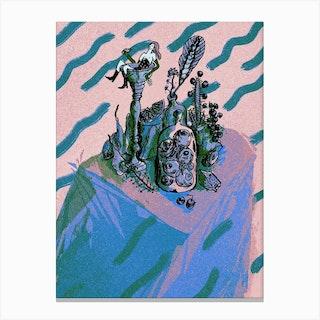 Bath Pastel Canvas Print