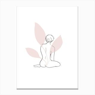 Plant Lady Line 1  Canvas Print
