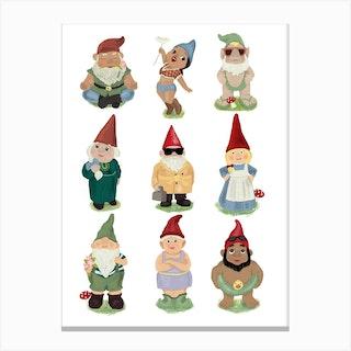 Garden Gnomes Canvas Print