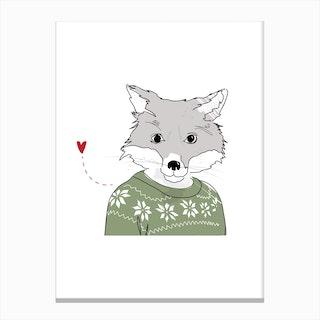 Furry Fox Canvas Print