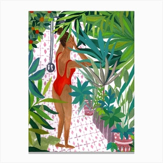 Jungle Shower Canvas Print