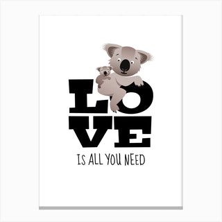 Love Koalas Canvas Print