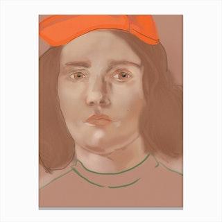 Orange Portrait Canvas Print