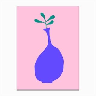 Pink Plant Composition 3 Canvas Print