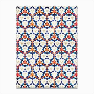 Bohemian Moroccan Pattern Canvas Print