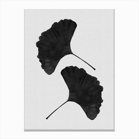 Ginkgo Leaf Black & White I Canvas Print