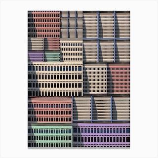 Akasaka Collage Building Canvas Print