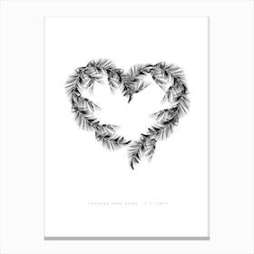 White Palms Canvas Print