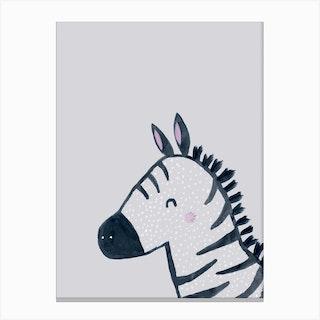 Inky Zebra Canvas Print