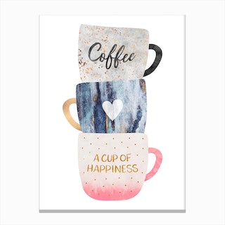 A Cup Of Happiness Canvas Print