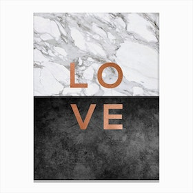 Love Copper Canvas Print