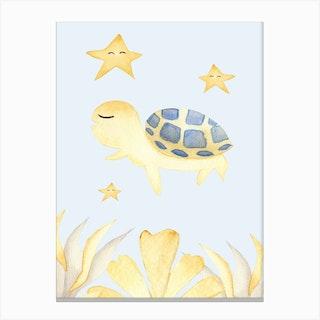 Cute Turtle Canvas Print
