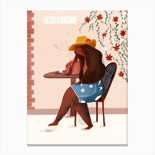 Buvette Canvas Print