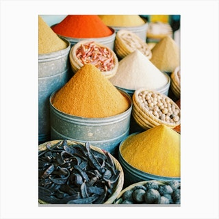 Spices Of Morocco Canvas Print