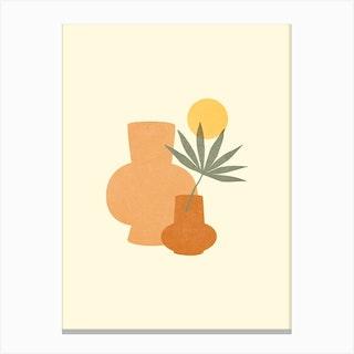 Honey Bohemian Vase Canvas Print