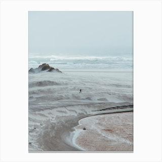 Minimalist Beach Canvas Print