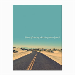 The Art Of Knowing Canvas Print