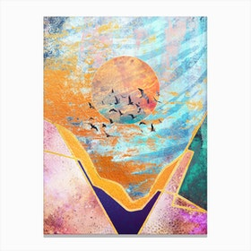Abstract Sunset Vi Canvas Print