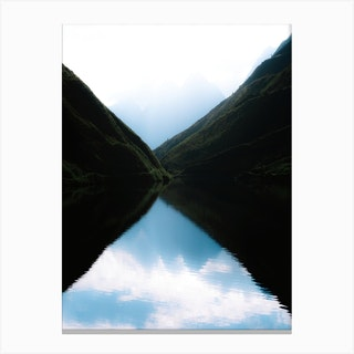 Perfect Reflections On A Calm Morning Canvas Print