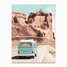 Boho Van In The Desert Canvas Print