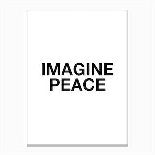 Imagine Peace Canvas Print