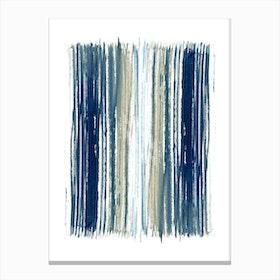 Indigo Stripes Canvas Print