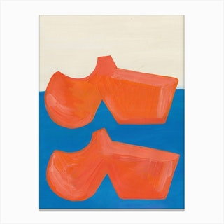 Orange Shoes Canvas Print