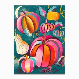 Funk Pumpkins Canvas Print