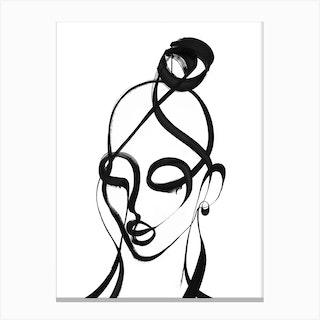 Bardot Brave Canvas Print