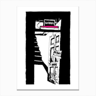 London Soho Model Canvas Print
