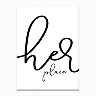 Her Place Canvas Print