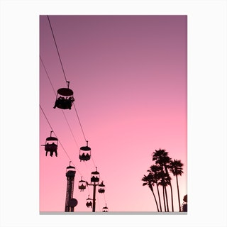Pink Santa Cruz Canvas Print