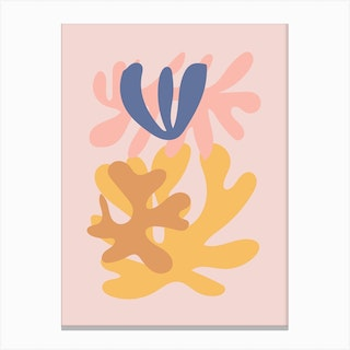 Cut Out Pink Canvas Print