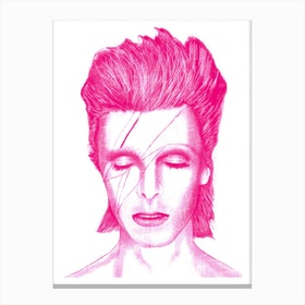 Pink Bowie Canvas Print