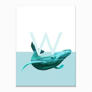 W Walvis Canvas Print