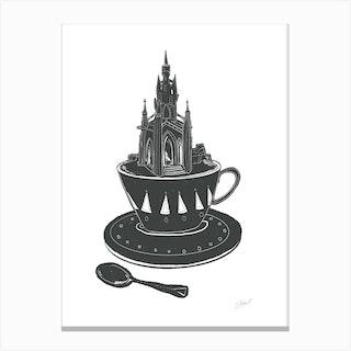 Scott Monument Teacup Canvas Print
