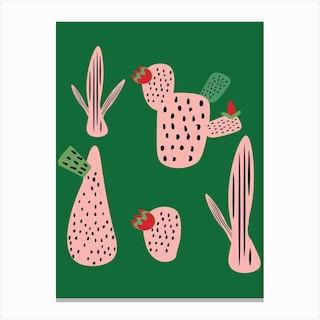 Id Mod Cactus Green Canvas Print