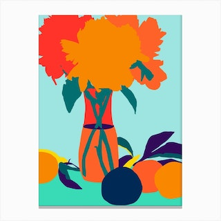 The Greed For Fruit Misses The Flower Canvas Print