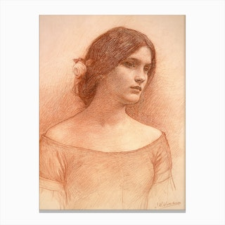 Study For The Lady Clare C1900 Canvas Print