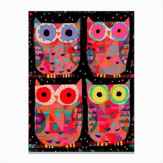 Four Owls Canvas Print