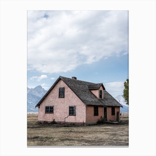 The Pink Barn Canvas Print