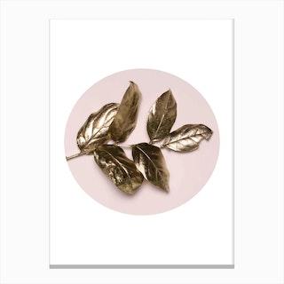 Rose Gold Leaf Canvas Print