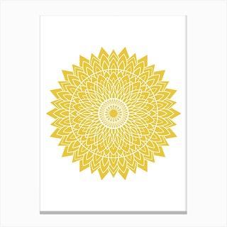 Mustard Mandala 1 Canvas Print